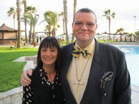 Vicar of Baghdad with Rita from SAT-7