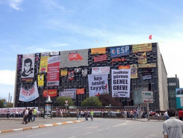 Protest banners in Istanbul, June 2013 (Occupy Gezi)