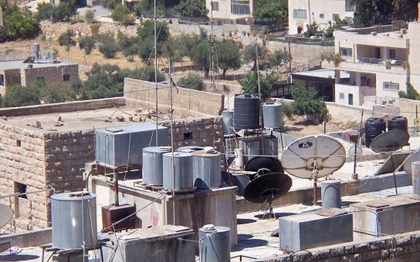 Rooftop water tanks in Bethlehem (photo: Grace AZ)