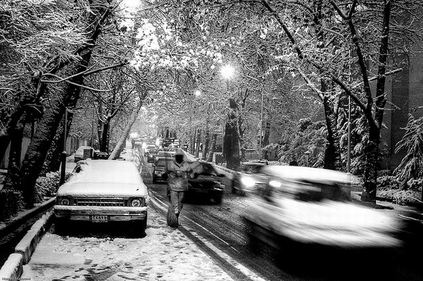 Tehran: driving home for Christmas? (Pic: Hamed Masoumi, Flickr Commons)