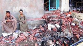 Christians in destroyed property, Minya, Egypt