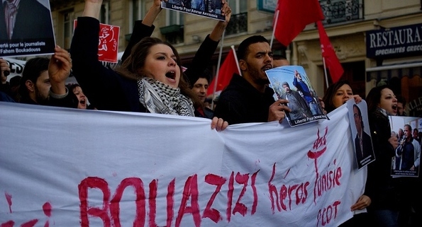 Bouazizi's death sparked the Tunisian (Jasmine) Revolution. Photo: Aslan Media Wikimedia Commons
