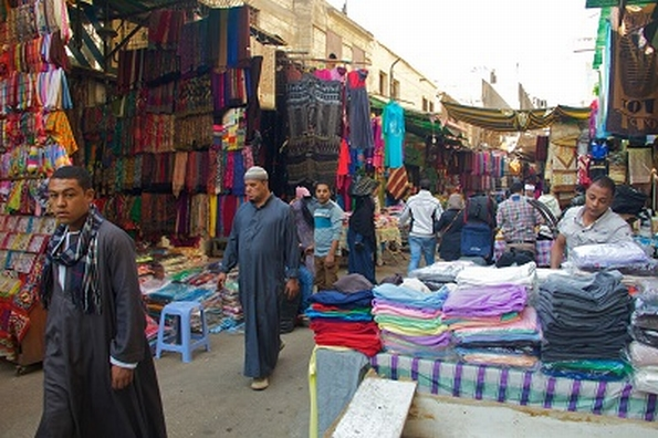 Market in a Muslim district of Cairo