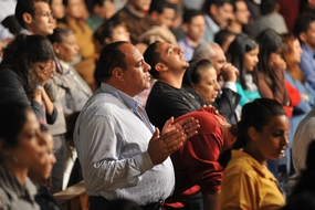 Worship at Evangelical festival, Egypt