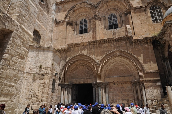 The Holy Sepulchre, Jerusalem (orientalizing, Flickr Commons)
