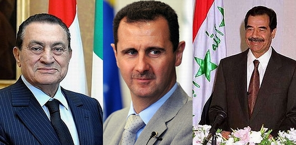 Three regime leaders who were sometimes seen as defenders of Christian communities (images courtesy Wikepedia)