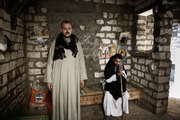 Milad (right) and Boules (left), cousin and uncle of Gerges and Malak (c) Jonathan Rashad