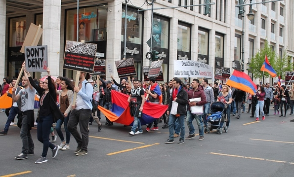 Berlin: one of many marches marking Armenian genocide (L Shaw)