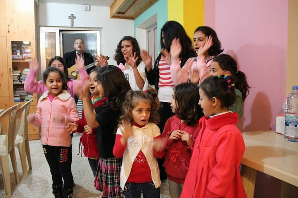 Sing a new song: children give God thanks at Beit el Safa