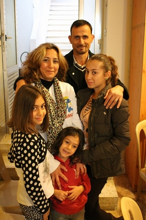 Ibrahim and Fatma with their 3 daughters