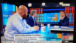 SAT-7 spokesmen interviewed on CNN Turk