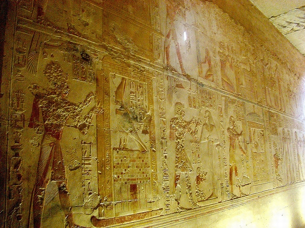 Abydos Temple, Upper Egypt. Egyptians have been fascinated by divination since Pharaonic times. (Pic: Richard White, Flickr Commons)