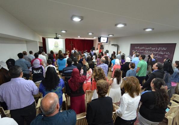 Worshipping congregation in Zahle, Lebanon (IMES)