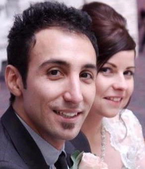 Sadegh with his wife, Laura