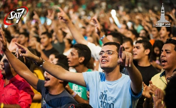 Young worshippers at One Thing 2015 (SAT-7)