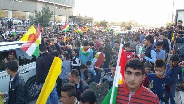 Dahuk welcomes Kurdish president Brazani from the frontline advance into Sinjar