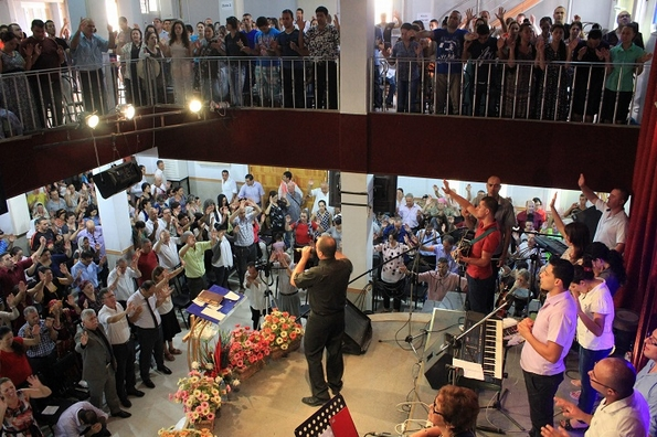 Services are packed at this 1,600 member Kabyle church in northern Algeria