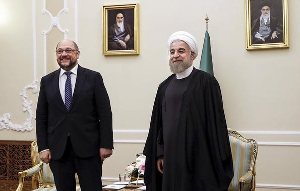 EU Parliament President Martin Schulz with President Rouhani 7 November 2015 (c) European Union/Flickr Creative Commons