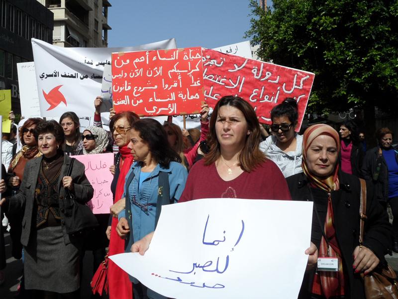 Joelle-Hatem-2013-Protest-to-Demand-Domestic-Violence-Legislation-1
