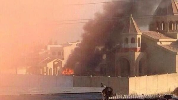 A Syrian Orthodox Church is torched in Iraq