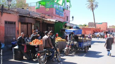 Street scene in Marrakesh.