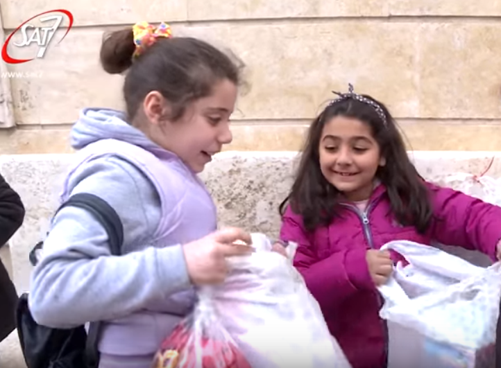Syrian children give thanks for answered prayer » SAT-7 UK