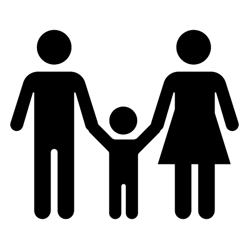 8b25f8f2dd5d1fad767c5e8c1ed92580-family-with-child-icon-by-vexels