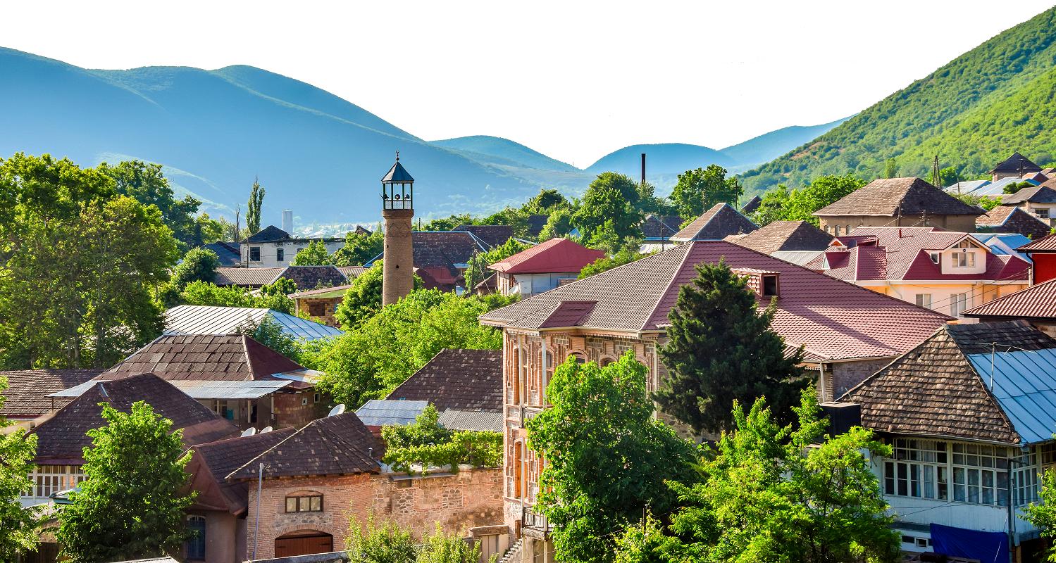 The town of Sheki, Azerbaijan (tenkl/Shutterstock)