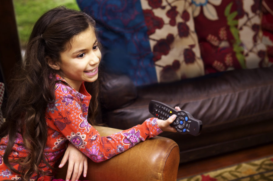 Girl with a remote control