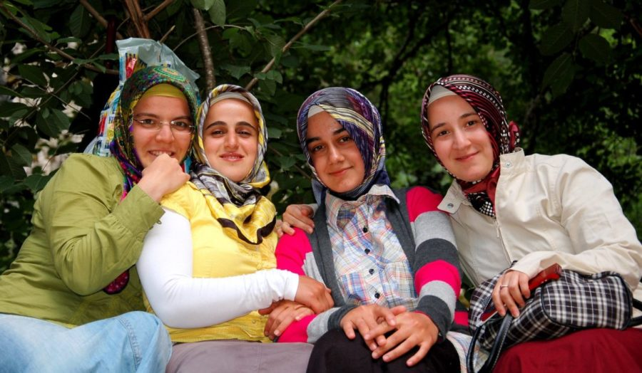 Young Turkish Women in Traditional Dress