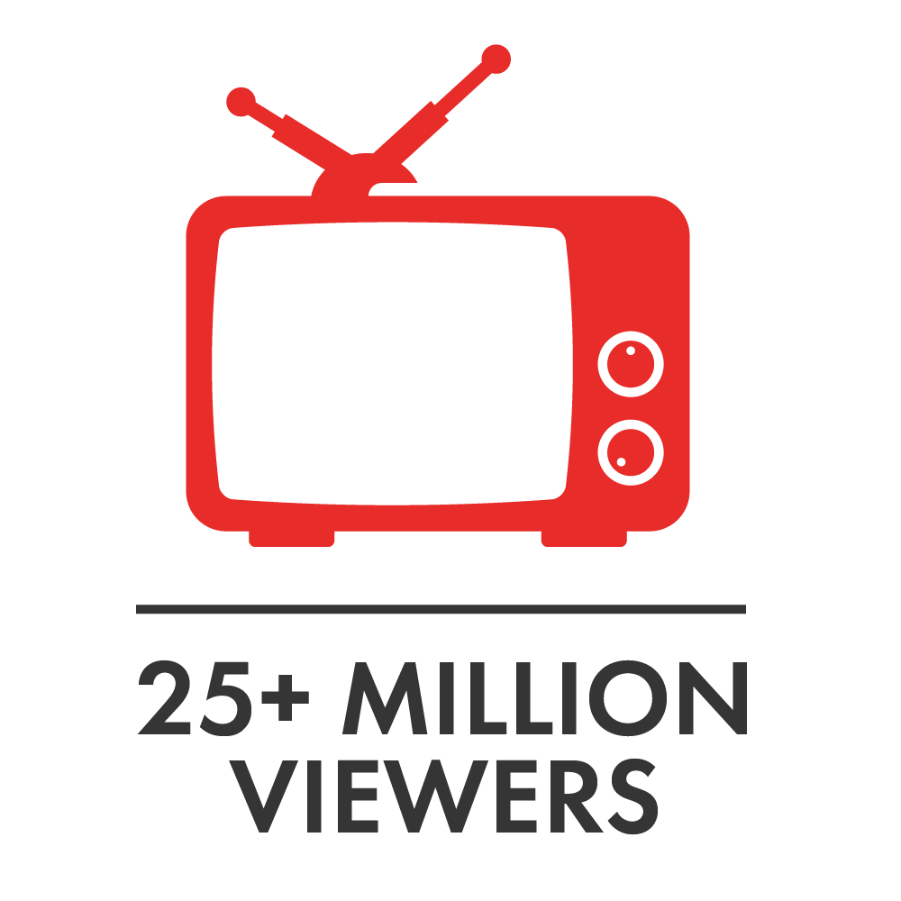 25+ Million Viewers Red