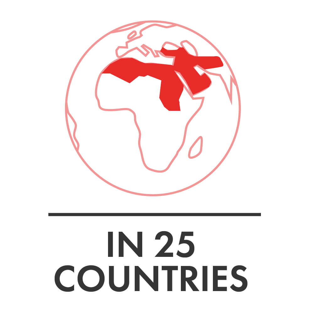 In 25 Countries Red
