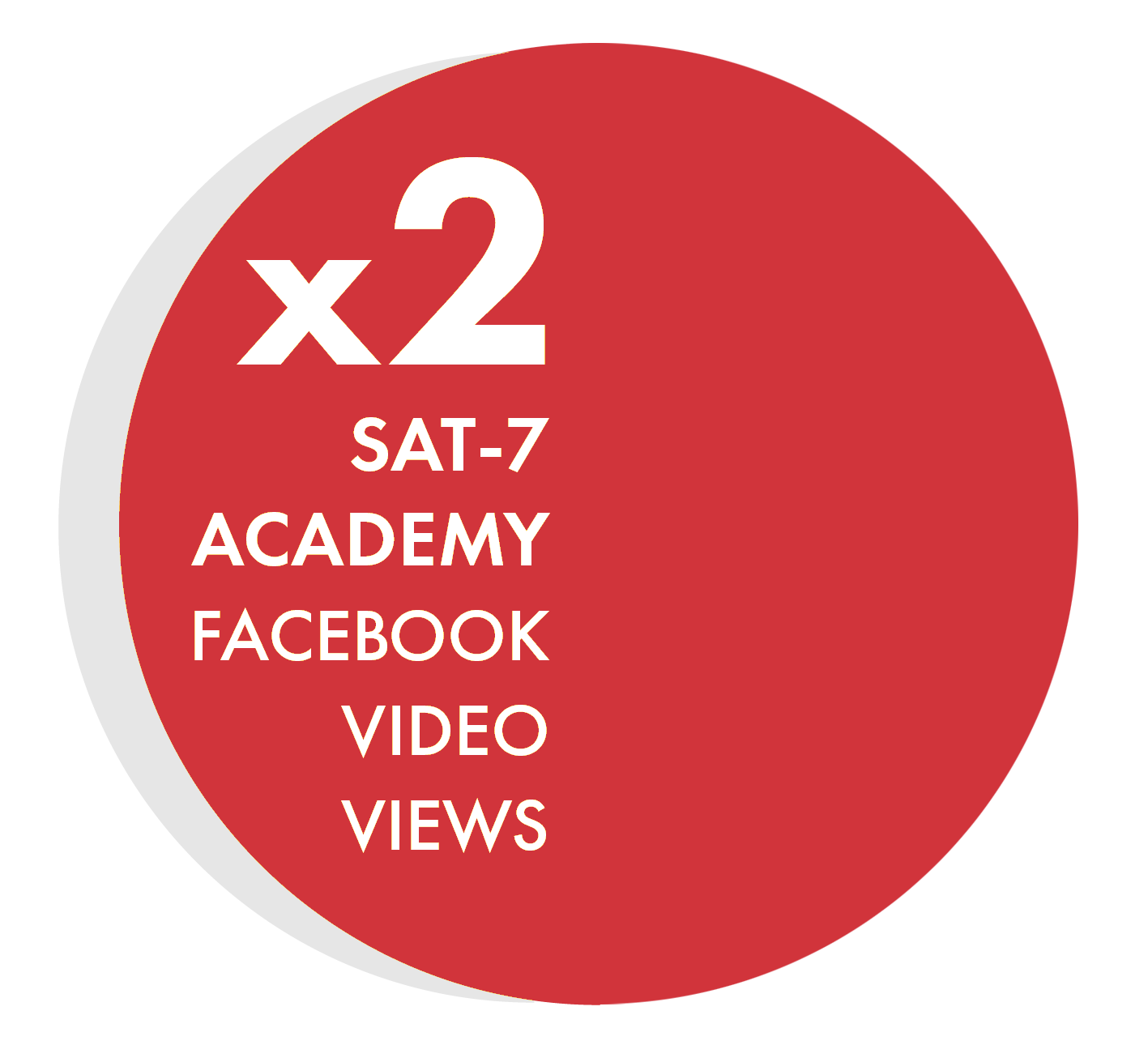 SAT-7 ACADEMY Double Video Views x2 Red CIRCLE