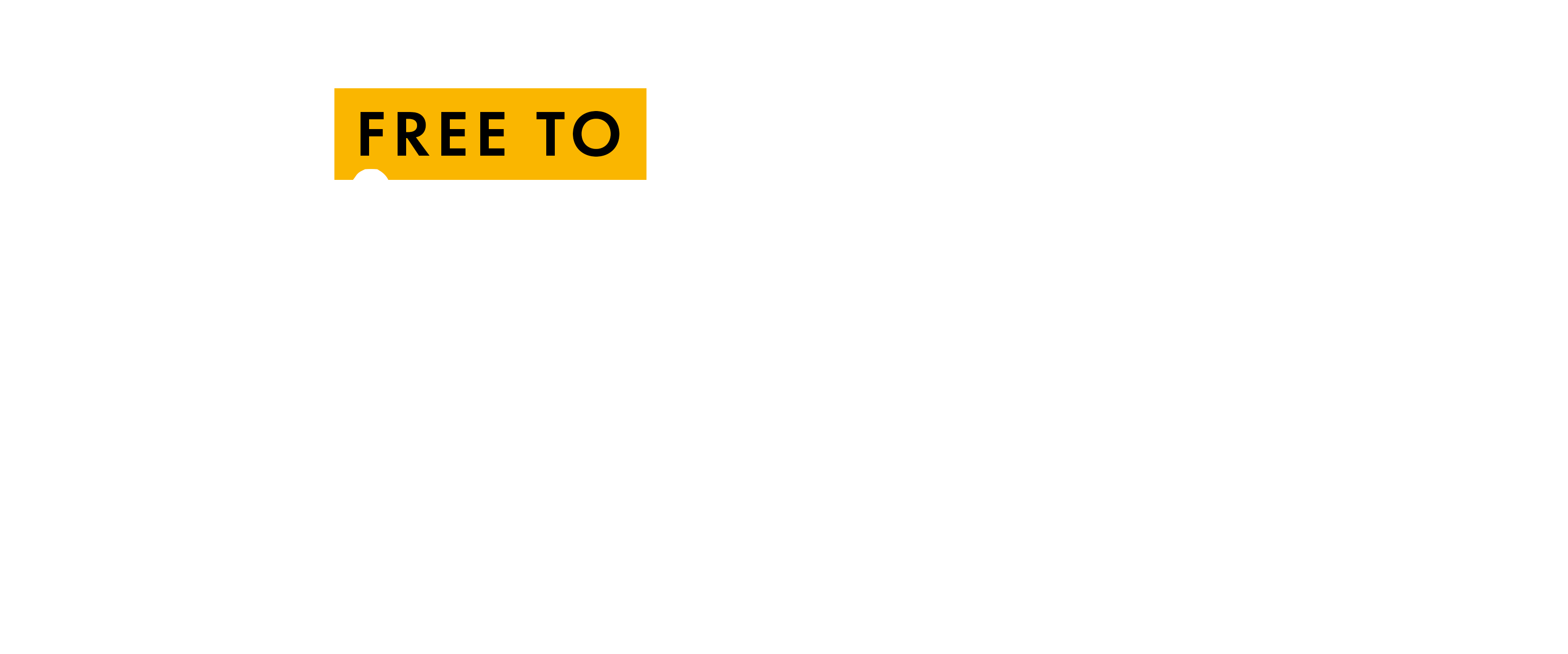 Free to believe text white cropped