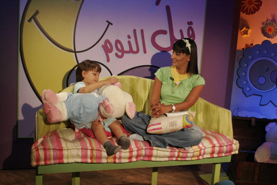 Rita El-Mounayer presenting Bedtime Stories