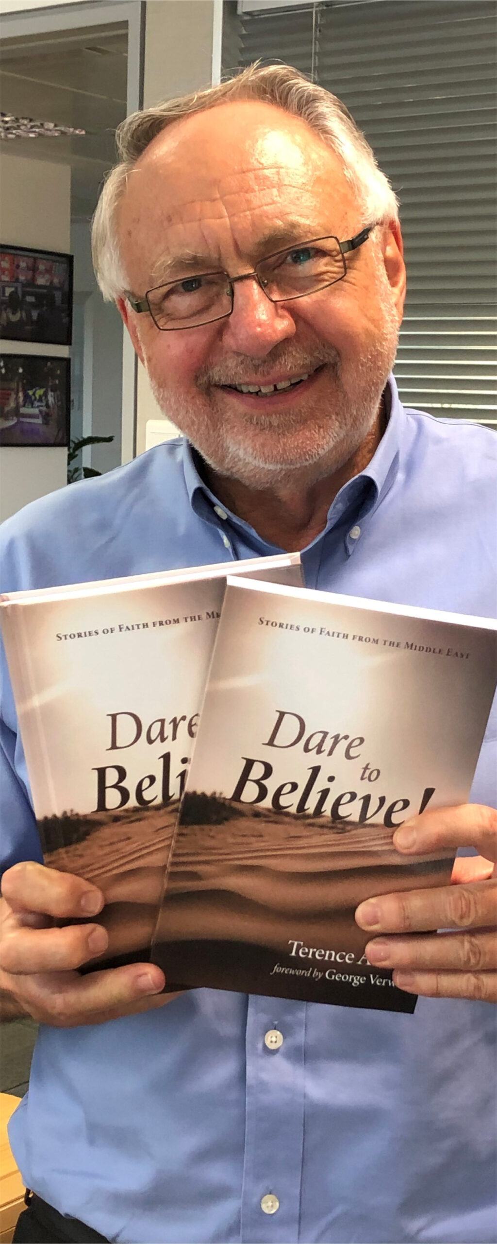 Terry Ascott with 'Dare to Believe'