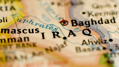 Map of Iraq showing Baghdad