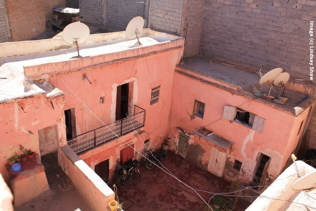 Satellite dishes on Marrakesh roof
