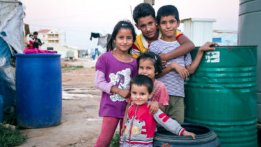 Syrian children in the Bekaa valley, Lebanon
