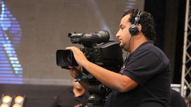 Filming SAT-7 ARABIC