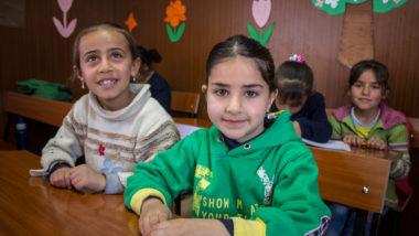refugees in Beqaa school