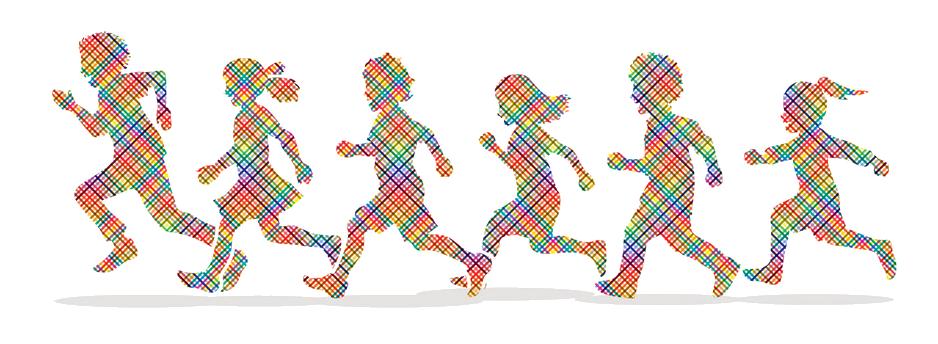 little-boy-and-girl-running-group-of-children-run-vector-14990249
