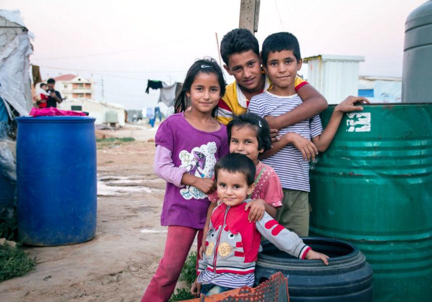 Syrian children in the Bekaa valley, Lebanon
