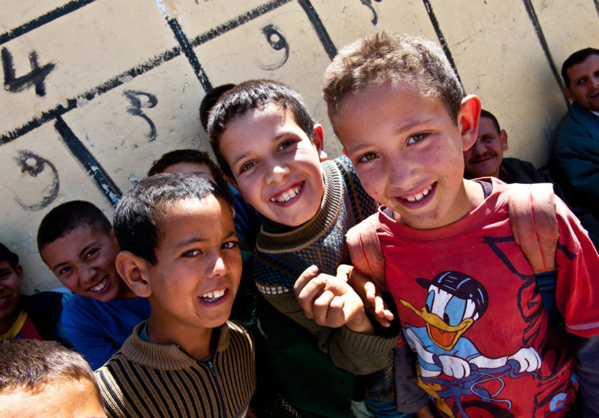 Young Middle Eastern boys at school. Copyright: Arne Hoel/World Bank