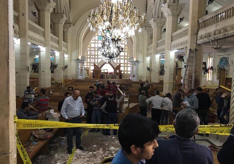 The bombed St George's Church (Abanoub Tarek/SAT-7)