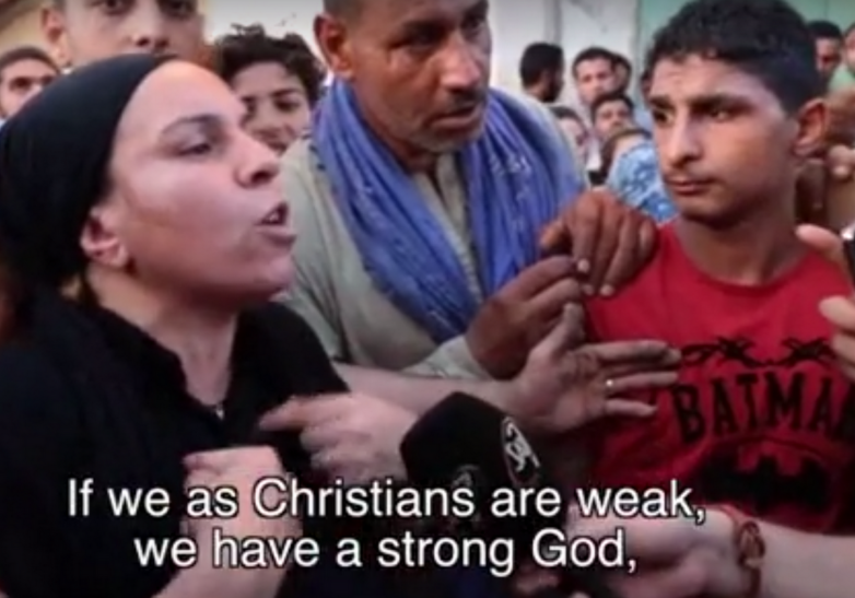 Coptic woman declares Christians are weak but have a strong God