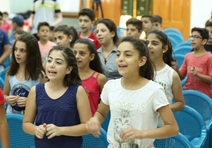 Lead image Syrian children at church - smaller