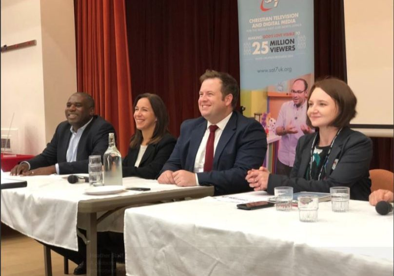 Panellists (l to r) David Lammy, Karina Martin, Stephen Doughty and chair Heather Staff